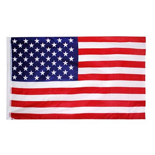 Gazechimp Américain USA Drapeau Grande Bannière 150 * 90cm Fête Anniversaire Décoration
