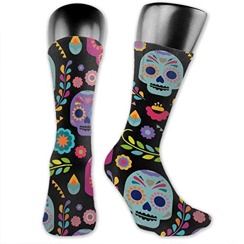 Antibacterial Funny Sugar Skull Rose Compression Elastic Socks Art Ankle Stockings Breathable Funny Casual Crew Socks Sports Socks -
