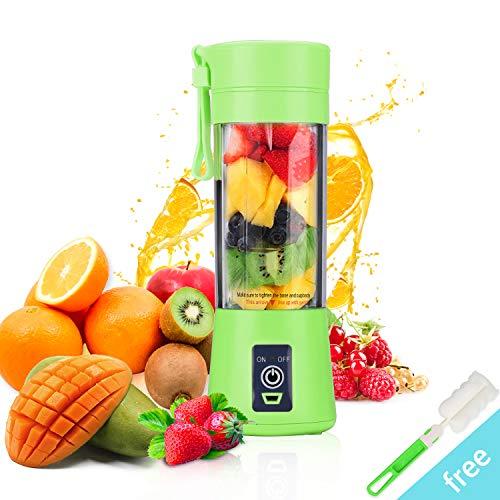 Juicer Cup, BWORPPY Spremiagrumi portatile con cavo USB, frullatore di frutta per bambini, 380ml (verde)