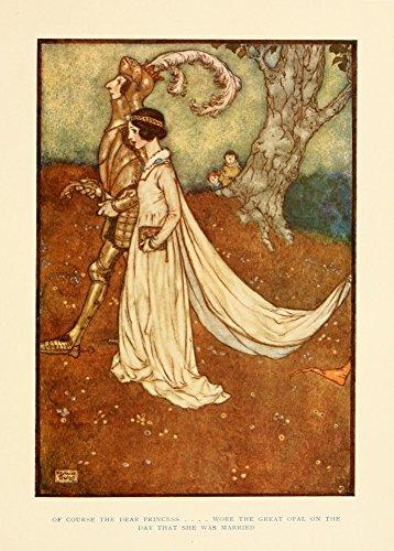Edmund Dulac naturalmente il caro Proncess Wore il grande opale il giorno che ha sposata, dai