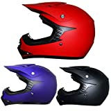 Leopard LEO-X15 Casque de Moto de Casques Motocross Bicyclette ATV ECE 22-05 Approbation S (49-50cm) Matt Rouge