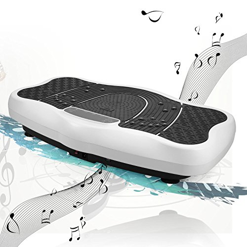 Ncient Profi Vibrationsplatte Fitness + LCD Display + Fernbedienung + 3D-Vibration Ganzkörper + USB-Lautsprecher Vibrationsgerät, Vibrationstrainer bis150 kg
