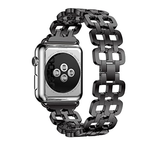 Hunpta Echter Edelstahlarmband Smart Band Uhrenarmband für Apple Watch Serie 2 38mm - 2