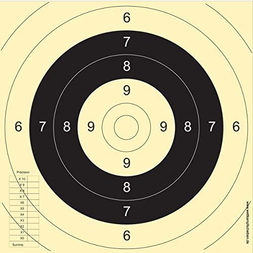 Druckteam Schleede & Partner Schießscheiben Sportpistole Präzision BDS (125 Stück)