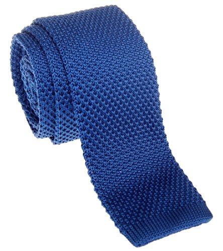 Cravate vintage tricotée élégante Retreez style décontracté Homme 5,1 cm fine - Plusieurs couleurs - Bleu - Taille Unique