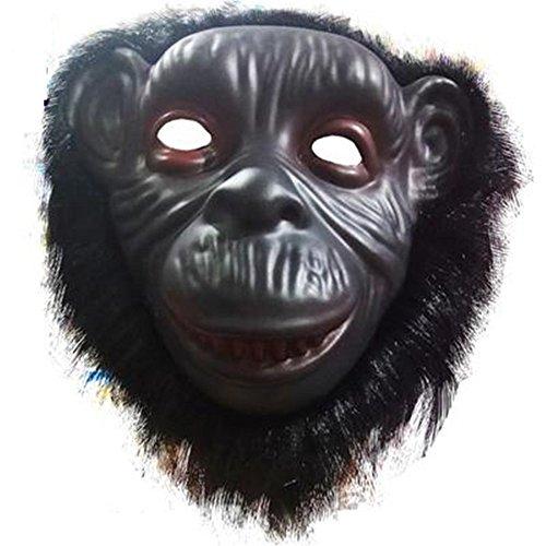 ParttYMask Maskerade,Tier Maske Löwe Wolf Orang-Utan AFFE Leopard Kind Spielzeug Orang-Utan ()