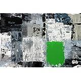 Kunstdruck RoadM mit Grün auf