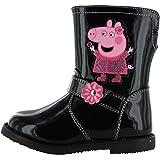 Peppa Pig Albion Filles Enfants Bottes Noir (Tailles 5,6,7,8,9,10) - Noir - Noir,