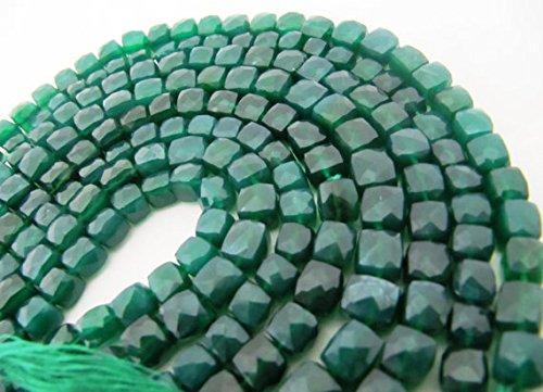 bis 8mm, strand- grün Onyx facettiert Snackverpackung Jewelry Perlen 20,3cm (Bulk-würfel Großhandel)