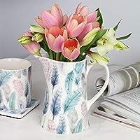 Tutti Decor Feathers Ceramic Jug Bone China Home Gift Display Medium 14cm by Gisela Graham