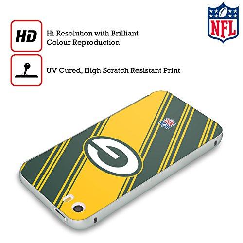 Ufficiale NFL Marmo 2017/18 Green Bay Packers Argento Cover Contorno con Bumper in Alluminio per Apple iPhone 5 / 5s / SE Righe