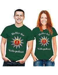 Helfer der Volkspolizei DDR Funshirt grün bunt