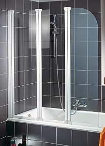 schulte d1654 04 50 pare baignoire pliant 3 volets h 140 x. Black Bedroom Furniture Sets. Home Design Ideas