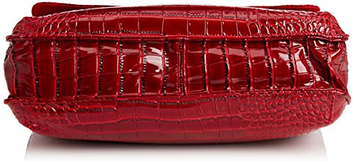 SwankySwans Bedford Patent Leather Business, Borsa per portatile donna Rosso (Rosso (Red))