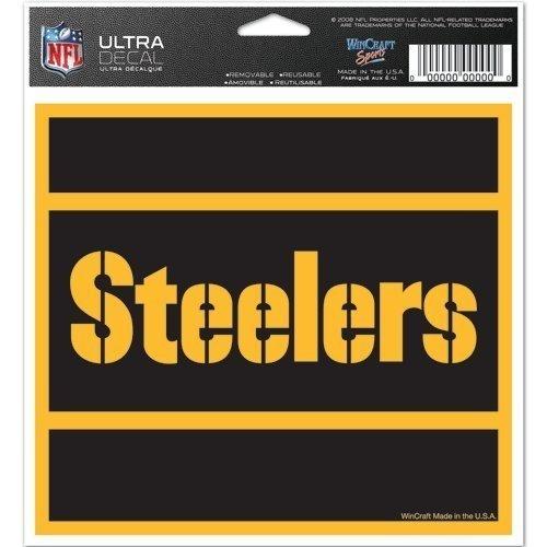 Wincraft NFL Pittsburgh Steelers 62271091Multi farbigen Aufkleber, 12,7x 15,2cm