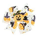 Girls adorabile piccolo 8cm nastro spaventoso Halloween fantasma zucca Spider Hair Bow becco Concord clip