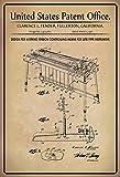 US Patente - Design for a string tension controlling means for lute-type instrument - Entwurf für einen Saitenspannungssteuermittel für ein Instrument vom Lautentyp - Fender - 1961 - Design No 2.973682 - schild aus blech, metal sign, tin