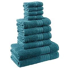 Idea Regalo - Dreamscene morbido asciugamani Set Regalo, Cotone, Foglia, 10pezzi