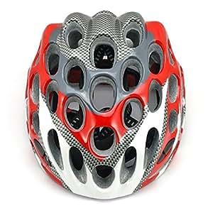 SainStyle Courses sur Route Cyclisme Casque de Vélo avec Visière * Rouge *