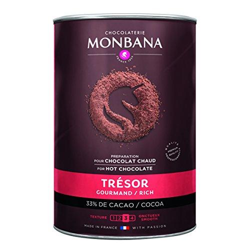 Chocolat en poudre MONBANA, 1 kg Trésor de monbana, préparation pour chocolat gourmand, chocolat...