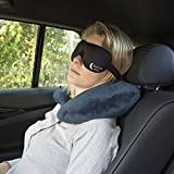 Eye Mask / Sleep Mask - Sleeping Masks for Men & Women - Bedtime Bliss Luxury Patented Contoured & Comfortable Sleep Mask & Ear Plug Set is the Blackout Eyemask it will Block Light but Wont Touch your eyes like other Eyemasks - Carry Pouch and Ear Plugs Included for FREE Bild 6
