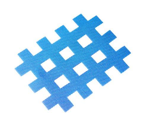 Kintex Cross-Tape Größe C (Blau) (52mm x 44mm) 20 Pflaster, Akkupunktur, Trigger, Schmerzpunkt, Gitter-Pflaster