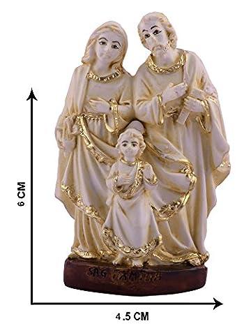 Jesus Maria und Joseph Idol Statuen Visitenkarte L Jesus Familie Christian religiöse L Jesus Familie Statue 6cm x 4,5cm L von Affaires ideal Geschenk für Weihnachten & Home/Auto/Büro Dekor g-474