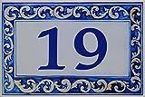 Azul'Decor35 Keramikplatte mit Straßennamen, Namen personalisierte Villa - Wählen Sie Text - 20x30cm, Stärke 8mm