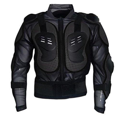 Dexinx Motorrad Rüstung Jacke Motocross Mountain Radfahren Skating Snowboard Body Protector Schwarz XL