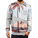 Just Rhyse Palms Sweatshirt Grey Herren Pullover L