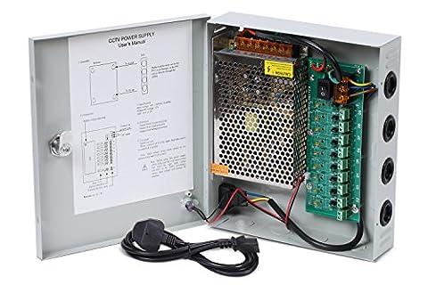 Nordstrand 9 Kanal Leistungsnetzteil für CCTV Kamera Videoüberwachung 12V DC