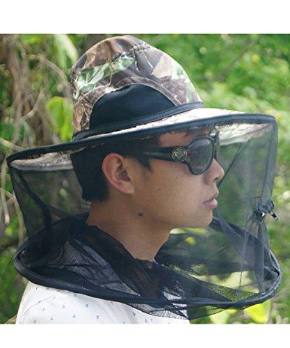 QiangDa Pescar Control De Plagas Anti Mosquito Anti Abeja Gorra Respirable Proteccion Solar Plegable Sombrero De Pesca Sombrero de sombra ( Color : C )