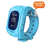 Witmoving Childrens Smartwatch GPS Tracker Kids Wrist Watch Phone Sim Anti Lost SOS Bracelet Parent Control By IPhone IOS Android Smartphone Blue