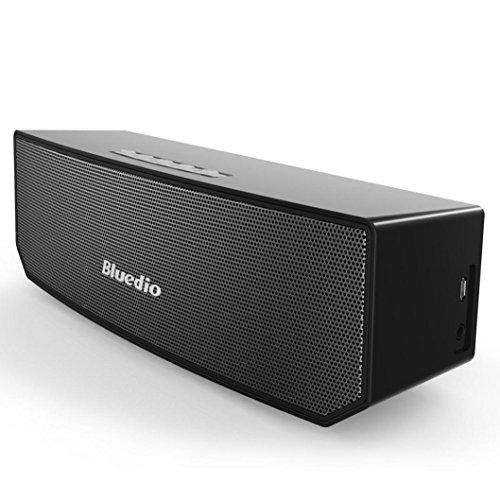Fulltime® Bluedio BS-3 Bluetooth 4.1 Dual-Lautsprecher Bluetooth Stereo Wireless 3D-Surround-Sound-Soundbar DSP 24 Bit Hohe Auflösung 5W X 2 für Smartphones und anderen Bluetooth-Geräten, 7-Stunden-Play, 22.7 x 6.8 x 7.4 cm ( Schwarz)