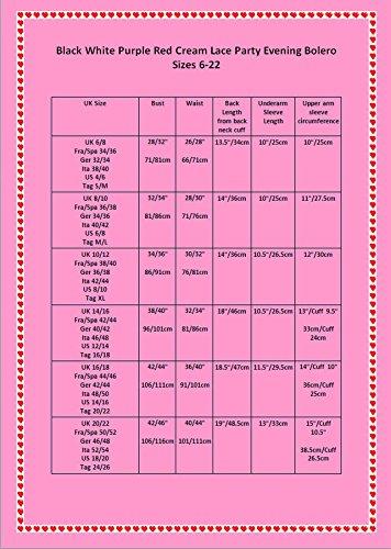 Boléro en Dentelle à Fleurs Parfait pour Soirée, Cérémonie, Soirée Détente et au Bureau Taille 34-50 Violet Affroilant