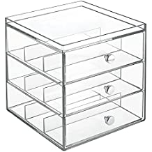 InterDesign Clarity Organizzatore 3 Cassetti, Impilabili per