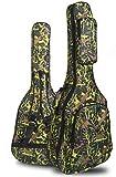 paracity Housse pour guitare acoustique classique Guitare Folk Motif 600D résistant à l\'eau Tissu Oxford Camouflage Bleu Double Coutures rembourrées Housse étui de transport pour 40104,1cm Guitare acoustique classique Guitare Folk vert camouflage