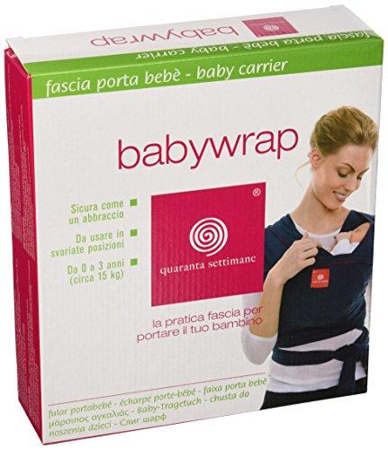 Quaranta Settimane - Babywrap Fascia porta bebè,da 0 a 3 anni ,0.5 x 4.75 m, Verde Lago