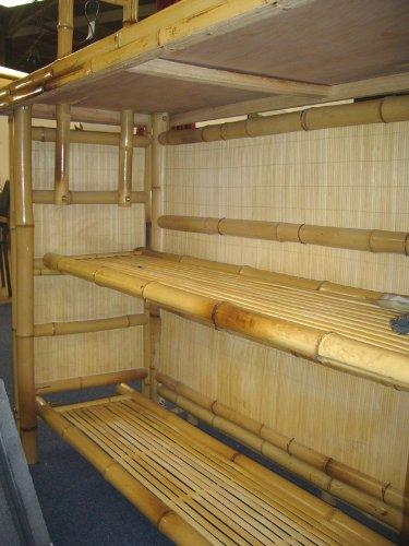 4tlg. Bar RIVAS + Bambus Theke Tresen Barhocker OUTDOOR - 2