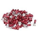 UXCELL fdd1.25–205Wire femminile isolato terminale elettrico con 100pezzi, 0.5–1.5mm, rosso