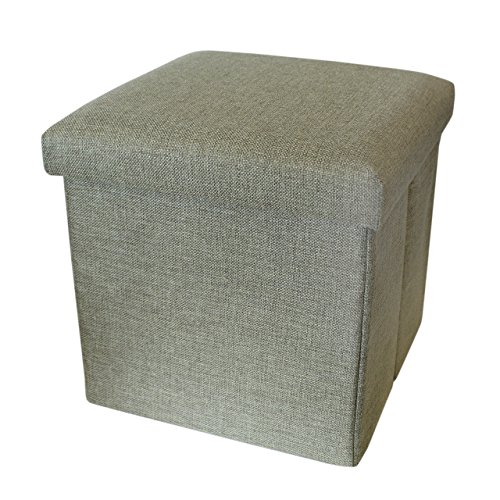 Pequeña caja de almacenamiento con tapa - Taburete de pie / Pouffee c