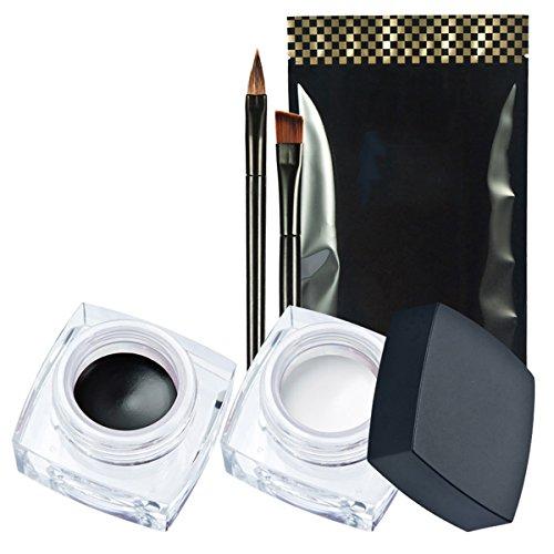 Wasserdicht 2 in 1 Gel Eyeliner-Fatetec Beauty Kosmetik Make Up Langlebige Schatten Gel Creme Eye...