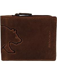 Brown Bear Geldbörse Herren Leder schwarz oder braun Daniel