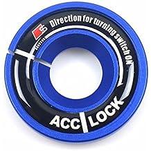 COGEEK Car Ignition Keyhole Decoration Ring Trim Cover for A1 A3 A4 S3 TT TTS (blue)