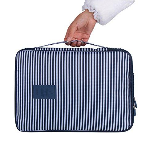 Reisen Krawatte Fall Verpackung Gepäck Shirt Organizer Tidy Case Kärtchen, jeweils leicht faltenfrei Reise Cube Tasche für wasserdichte Tasche für Herren Koffer ideal zur Aufbewahrung von & empfindliche Kleidung Sonnenbrille grau