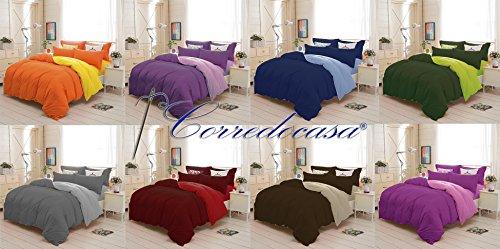 Corredocasa - piumone / trapunta singolo 1 piazza royal tinta unita double face 160 x 260 cm made in italy (colore da scegliere con una mail) ...