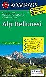 Alpi Bellunesi 1 : 50 000: Wanderkarte mit Radrouten. GPS-genau: Wandelkaart 1:50 000