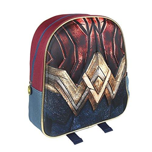 Cerdá 3D Wonder Woman Mochila Infantil, 31 cm, Amarillo