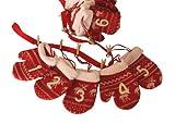 Adventskalender Handschuhe mit Rentiermuster - Girlande zum Befüllen ca. 1,8 m lang