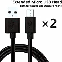 niubee (2paquetes) extensión Micro USB cabeza cable Teléfono Teléfono para teléfono resistente, a prueba de golpes, resistente al agua, cable USB para Mann Zug, Sonim XP, SIM libre teléfono, Samsung Galaxy S6, S5, J5, S7, A3, S4, 1m/3.3ft y 1.5m/4.9ft
